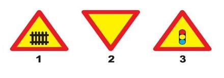 Biển nào báo hiệu giao nhau có tín hiệu đèn?