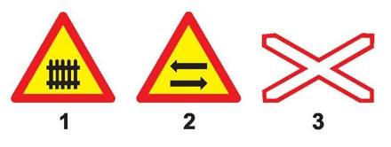 Biển nào báo hiệu nguy hiểm giao nhau với đường sắt?