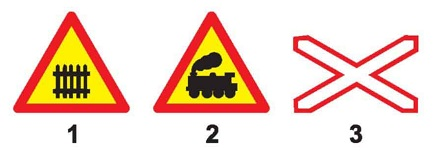 Biển nào báo hiệu đường sắt giao nhau với đường bộ không có rào chắn?