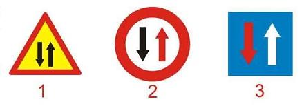 Biển nào báo hiệu phải giảm tốc độ, nhường đường cho xe cơ giới đi ngược chiều qua đường hẹp?