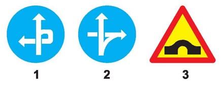 Biển nào báo hiệu tuyến đường cầu vượt cắt qua?