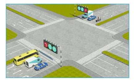 Theo tín hiệu đèn, xe nào được quyền đi là đúng quy tắc giao thông?