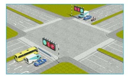 Theo tín hiệu đèn, xe nào phải dừng lại là đúng quy tắc giao thông?