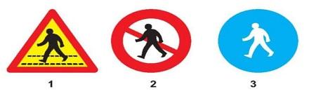 Biển nào cấm người đi bộ?