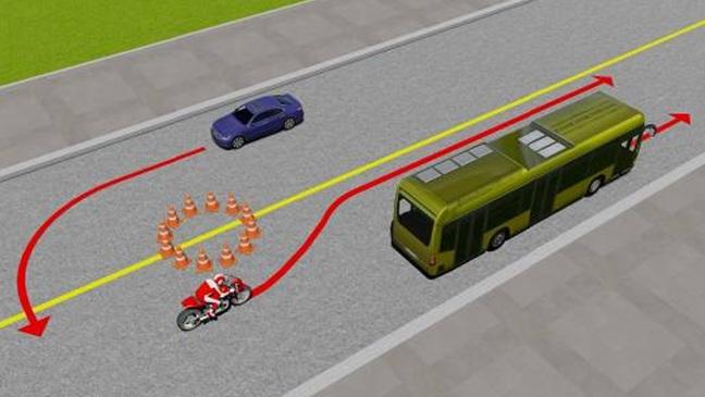 Câu hỏi 80: Xe nào vi phạm quy tắc giao thông?