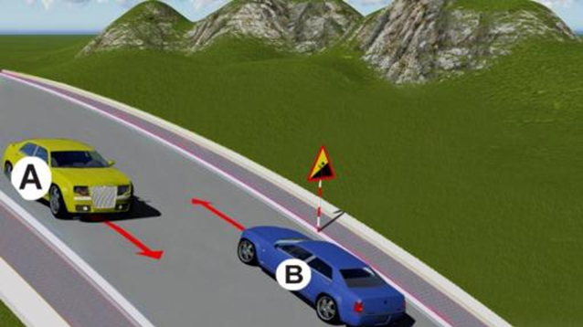 Câu hỏi 81: Xe nào phải nhường đường là đúng quy tắc giao thông?