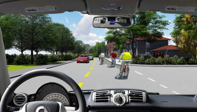 Câu hỏi 88: Bạn xử lý như thế nào khi lái xe ô tô vượt qua đoàn người đi xe đạp có tổ chức?