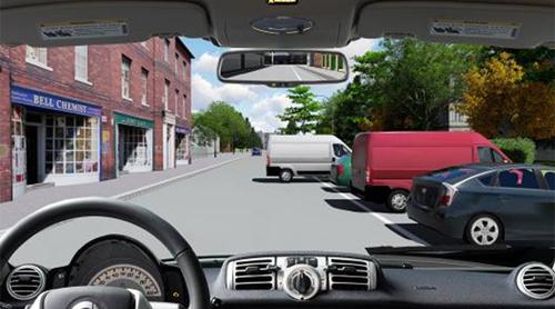 Câu hỏi 89: Bạn xử lý như thế nào khi xe phía trước đang lùi ra khỏi nơi đỗ?