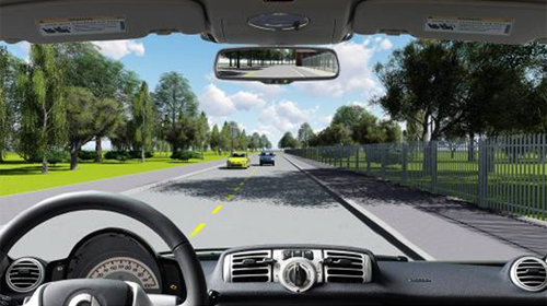Câu hỏi 90: Phía trước có một xe màu xanh đang vượt xe màu vàng trên làn đường của bạn, bạn xử lý như thế nào trong trường hợp này?