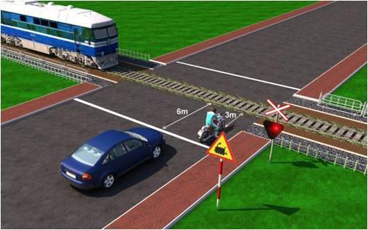 Câu hỏi 95: Xe nào dừng đúng theo quy tắc giao thông?