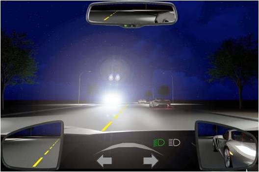 Câu hỏi 97: Khi gặp xe ngược chiều bật đèn pha trong tình huống dưới đây, bạn xử lý như thế nào?