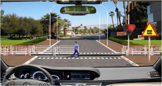 Câu hỏi 98: Xe của bạn đang di chuyển gần đến khu vực giao cắt với đường sắt, khi rào chắn đang dịch chuyển, bạn điều khiển xe như thế nào là đứng quy tắc giao thông?