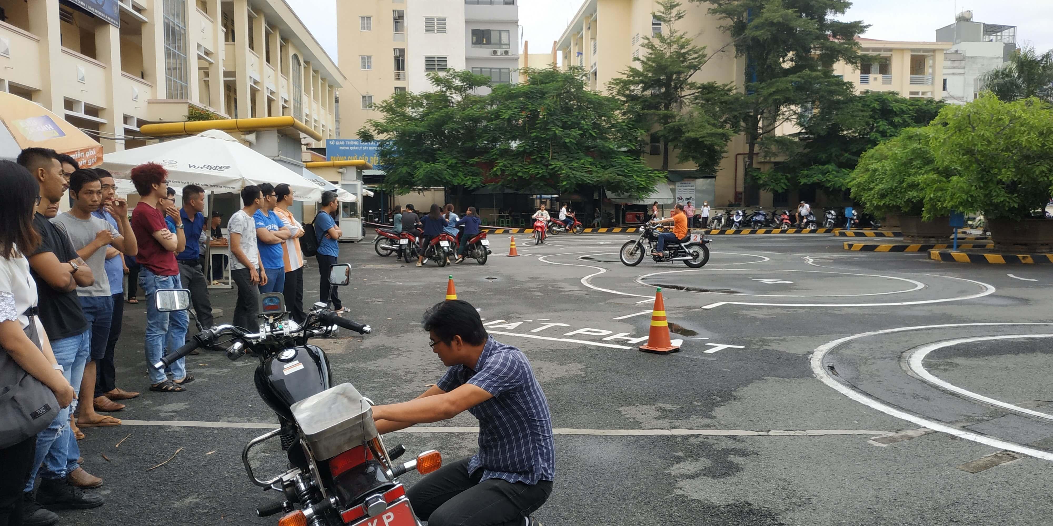 Thi bằng lái xe mô tô A2 ở đâu tại TPHCM