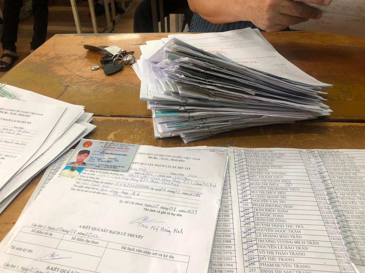 Hồ sơ thi bằng lái xe ở Quận Bình Tân