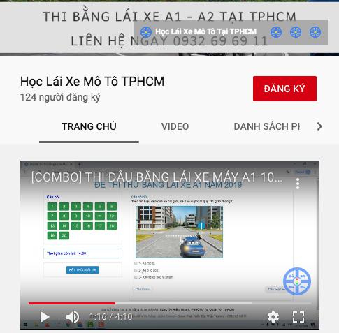 Kênh youtube Học Lái Xe Mô Tô TPHCM