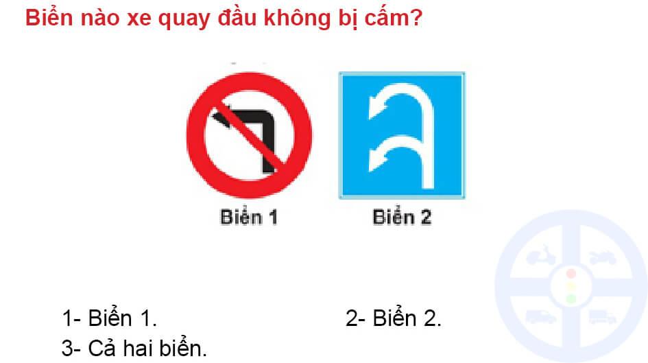 Biển nào xe quay đầu không bị cấm?