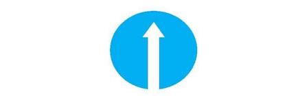 Biển báo hiệu hình tròn có nền xanh lam có hình vẽ màu trắng là loại biển gì dưới đây?